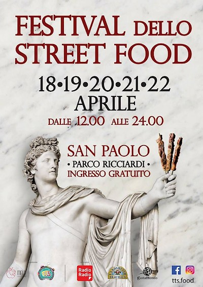 Typical truck street food - san paolo roma