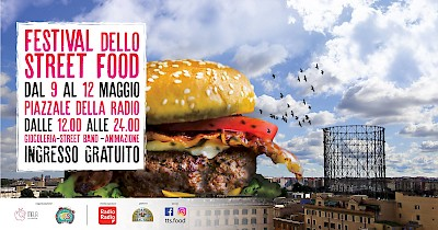 Typical truck street food - piazzale della radio roma